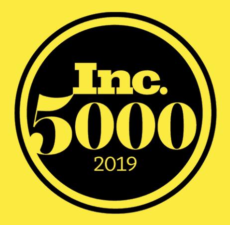 Inc 5000 2019 Award