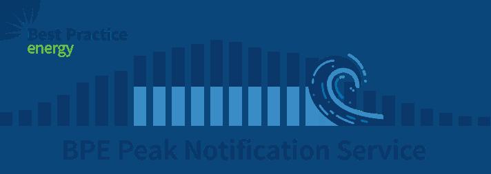 BPE Peak Notification Service Banner
