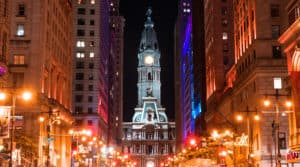 Image of Philadelphia at night