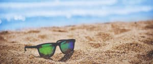 beach summer scene