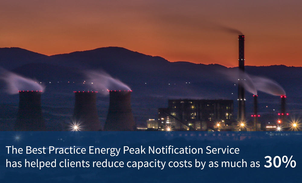 The average savings clients experience on their capacity costs when working with the BPE Peak Notification Service