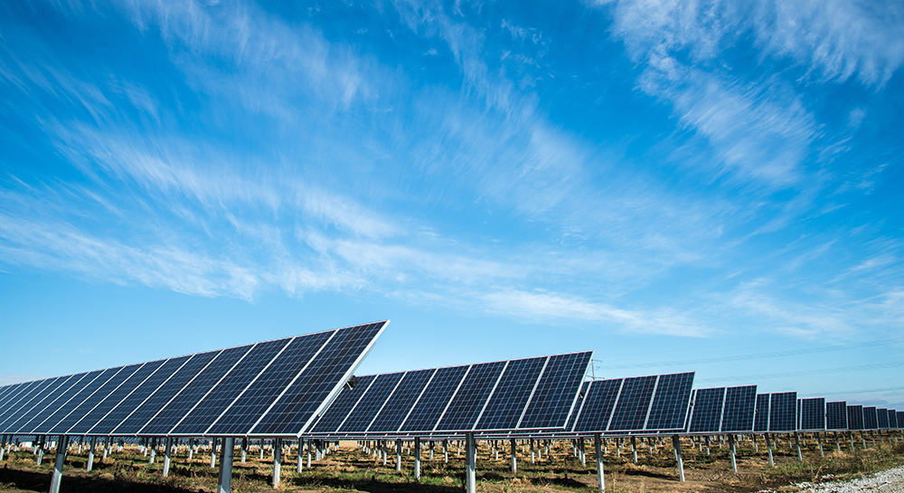 A solar energy farm used to generate electricity