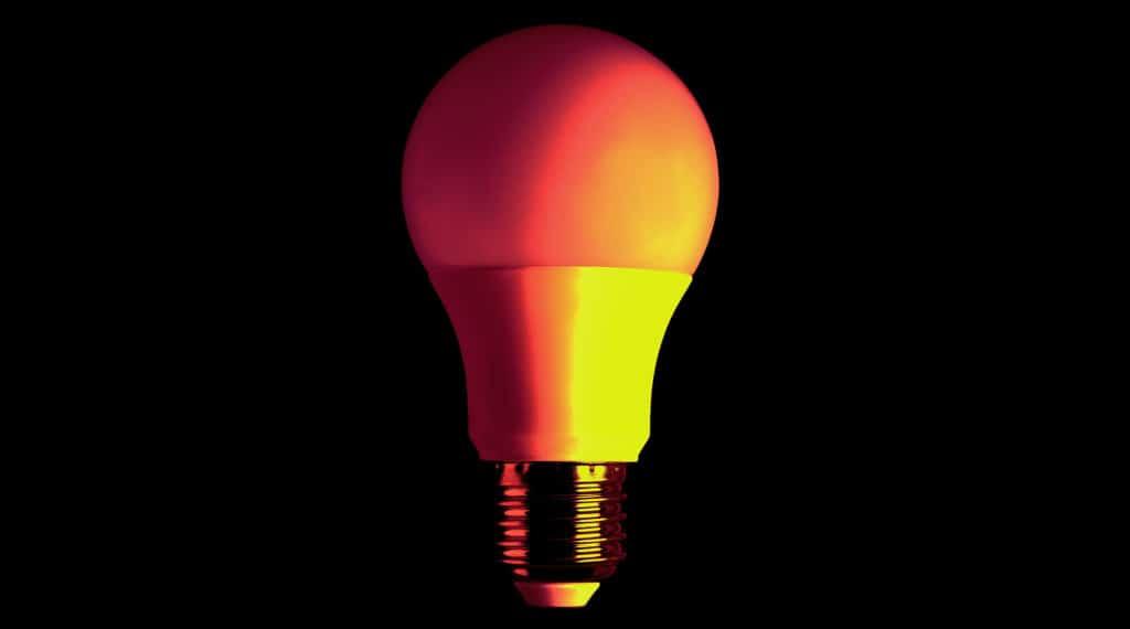 An image of an energy efficient LED lightbulb