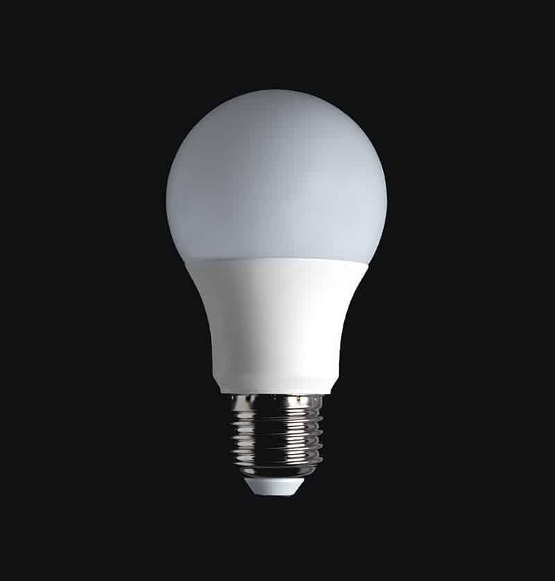 An image of an LED lightbulb