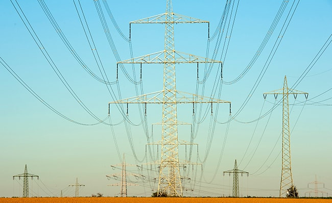 Image of electricity transmission lines